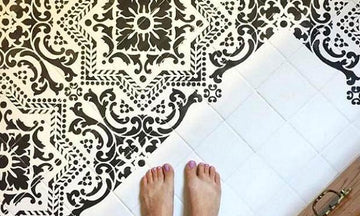 Painted Tile Floor Stencils that Anyone Can Do