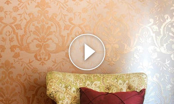 How to Stencil a Beautifully Embossed Wall with Joint Compound Plaster