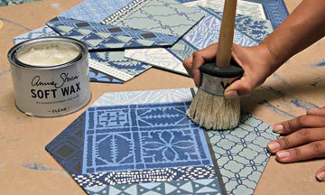 Create Indigo-Inspired Wall Art with Craft Stencils & Wall Art Wood Shapes