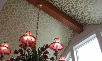 On the Up and Up: Decorate Your Home with Ceiling Stencils