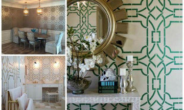Weave Together Some Style with Trendy Trellis Stencils
