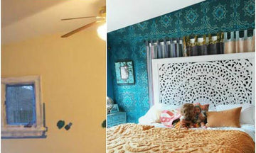 Before & After Room Makeovers with Stunning Stencils