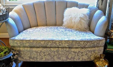 8 Upholstery Updates with Furniture Stencils and Chalk Paint
