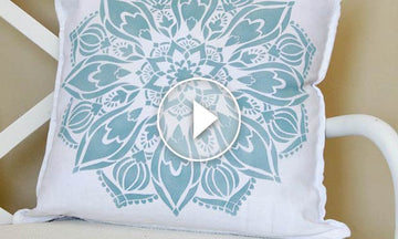 Get the Anthropologie Look: How to Stencil a Mandala Pillow