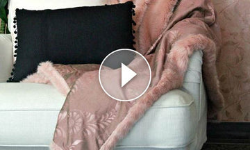 How to Paint Fabric: Stenciling a Pretty Pink Throw Blanket