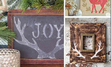 Stenciled Holiday Wall Art Ideas
