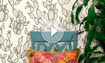 How to Outline Cactus Wall Designs with Sharpie & Stencils