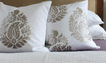 Affordable Bedroom Style with Paisley Stencils