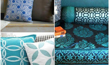 Stenciled Pillows for Every Style