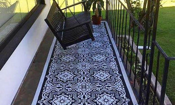 Come On In! Welcome Guests with a Stenciled Porch or Patio