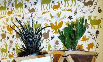Decorating with Colorful Otomi Pattern Stencils