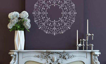 12 Ideas to Paint a Decorative Focal Point with Medallion Stencils