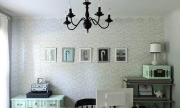 Decorating Ideas with Wall Stencils for the Artistic Romantic