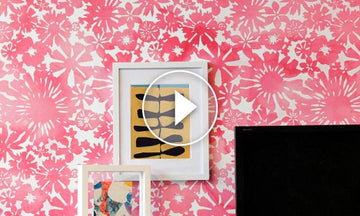 How to Stencil a DIY Watercolor Mural