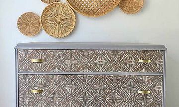 Paint Batik Fabric Designs with Wall Stencils & Furniture Stencils