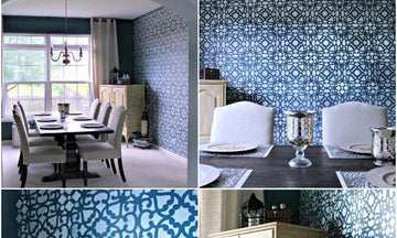 Make Your Home Modern or Moroccan with this Lace Stencil