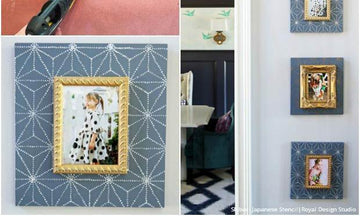 Trendy Stencil Ideas with DIY Picture Frames