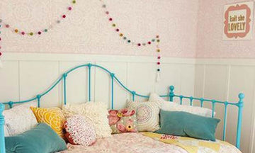 Decorating a Little Girl's Dream Room with Wall Stencils