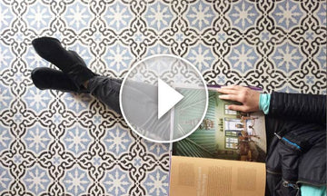 How to Stencil a Tile Floor the Fast & Easy Way