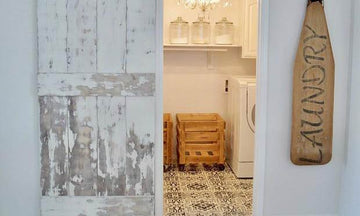 Floor Stencils Decorate a Vintage Farmhouse