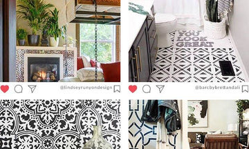 The Best Home Decor Makeovers with Insta-Inspiring Stencils