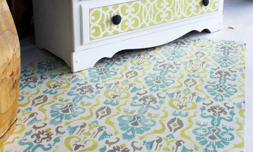 16 Decorating Ideas using Ikat Pattern Stencils