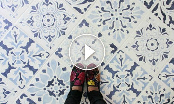 The Secret is Out! How to Stencil a Tile Floor in 10 Steps