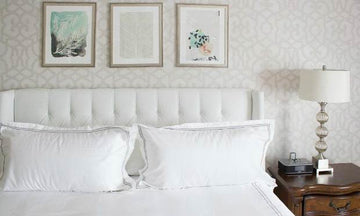 White-Haute Trend: Stenciled Walls and Furniture