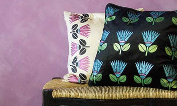 Stencil How-to: DIY Stenciled Pillows with our African Protea Stencil