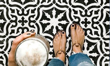 Floor Tile Stencils in American Farmhouse Style Magazine!