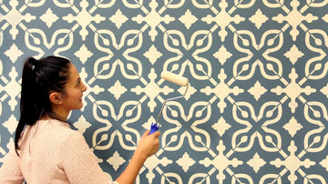 How to Stencil a Wall with Just Paint!