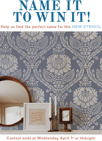 Name to WIN a Damask Stencil Now!