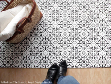 Best Idea! How to Paint Your Tile Floor with Painting Stencils