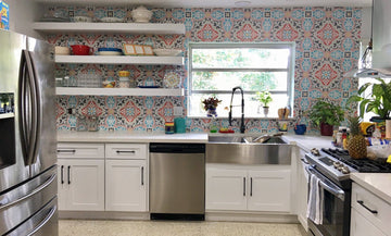 Back to Back: Kitchen Backsplash Painting Stencils