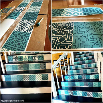 Paint, Peel, & Stick Your Stairs with Stencil Designs