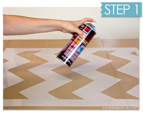 How to use stencil spray adhesive