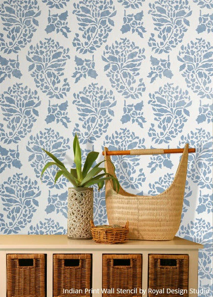 Get the Blues with these 10 Wall Stencil Projects in Beautiful Blue Hues - Royal Design Studio