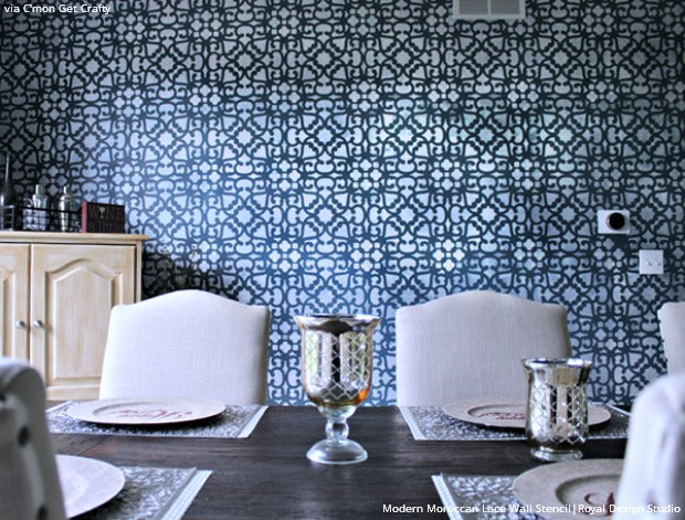 Wall Stencils Floor Decorating 16 DIY Dining Room