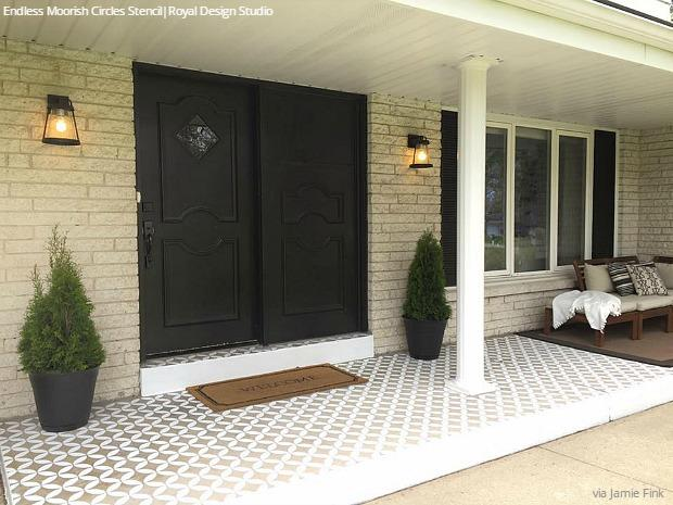 Diy Decorating Ideas For Stenciling A Porch Or Patio Floor Design Royal Design Studio Stencils
