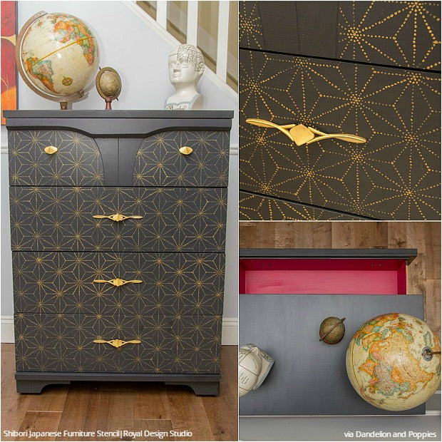 15 Chic Stencil Ideas for DIY Painted Furniture Upcycled Projects