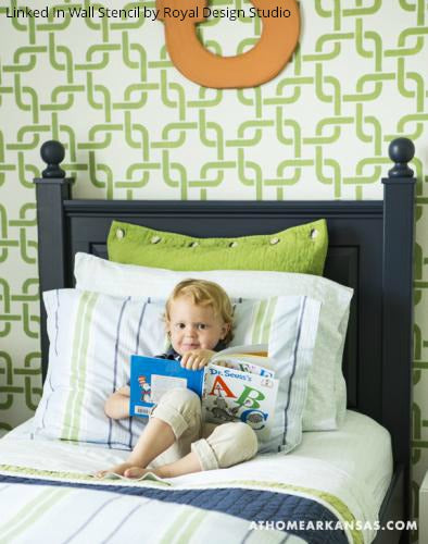 Stencils are Child's Play in these Kids' Rooms! Stencils create a colorful environment and stimulate creativity, which is why they are the PERFEFCT addition to kid's room décor or as a playtime activity.