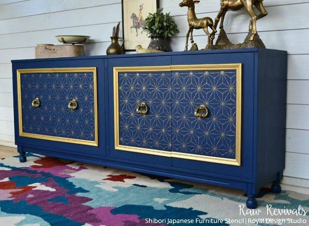 The BOLD & the BEAUTIFUL: Furniture Painting Stencils - Decorative Painting Patterns for Upcycling Reclaimed Furniture DIY Decor Projects - Royal Design Studio Stencils
