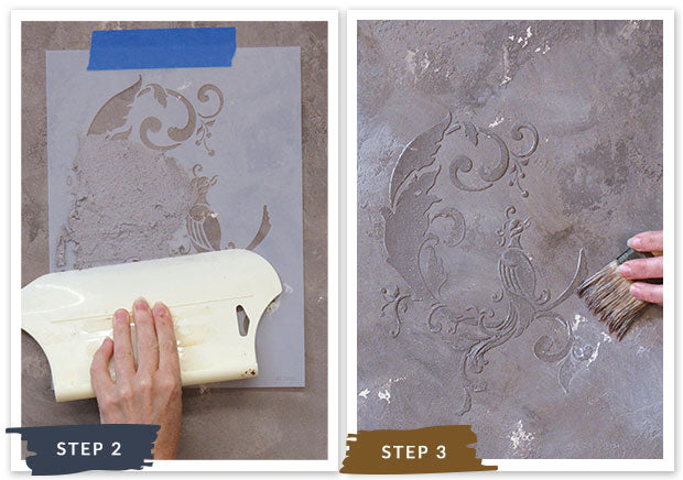 Royal Recipe from Royal Design Studio: How to Stencil Tutorial Crackled Chinois Birds Painted with Oriental Wall Art Stencils