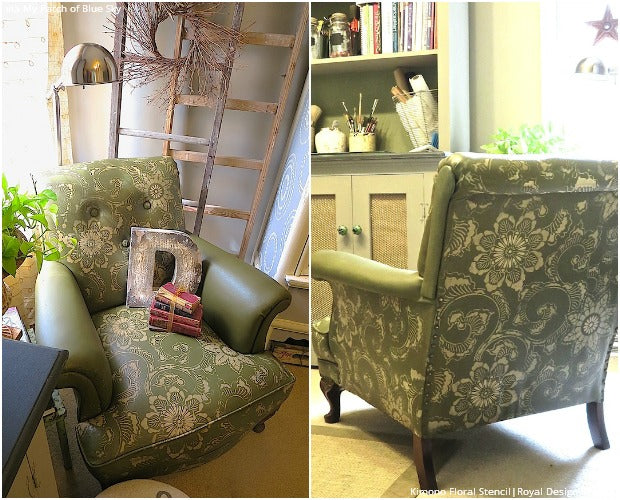 8 Jaw Dropping Painted Upholstery Makeovers with Furniture Stencils and Chalk Paint by Annie Sloan