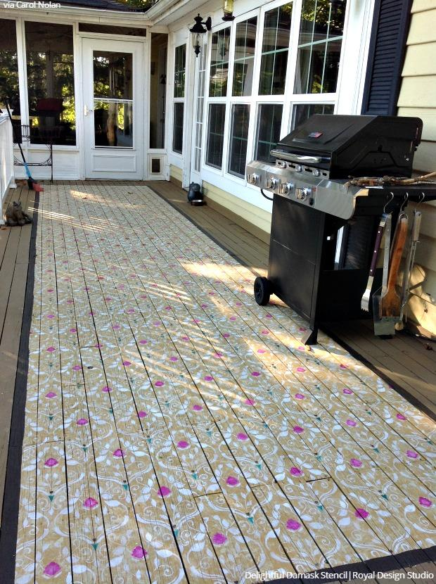 Come On In! Welcome Guests With A Stenciled Porch Or Patio Floor! DIY Home