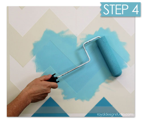 How to roller stencil without bleedunders