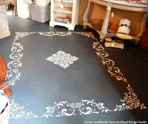 Easy Diy Fix Concrete Floor Stencils For Painting And