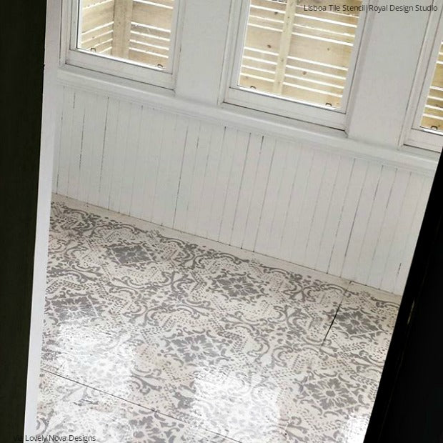 Dont Refinish Paint Your Hardwood Floors With Stencils Diy Ideas