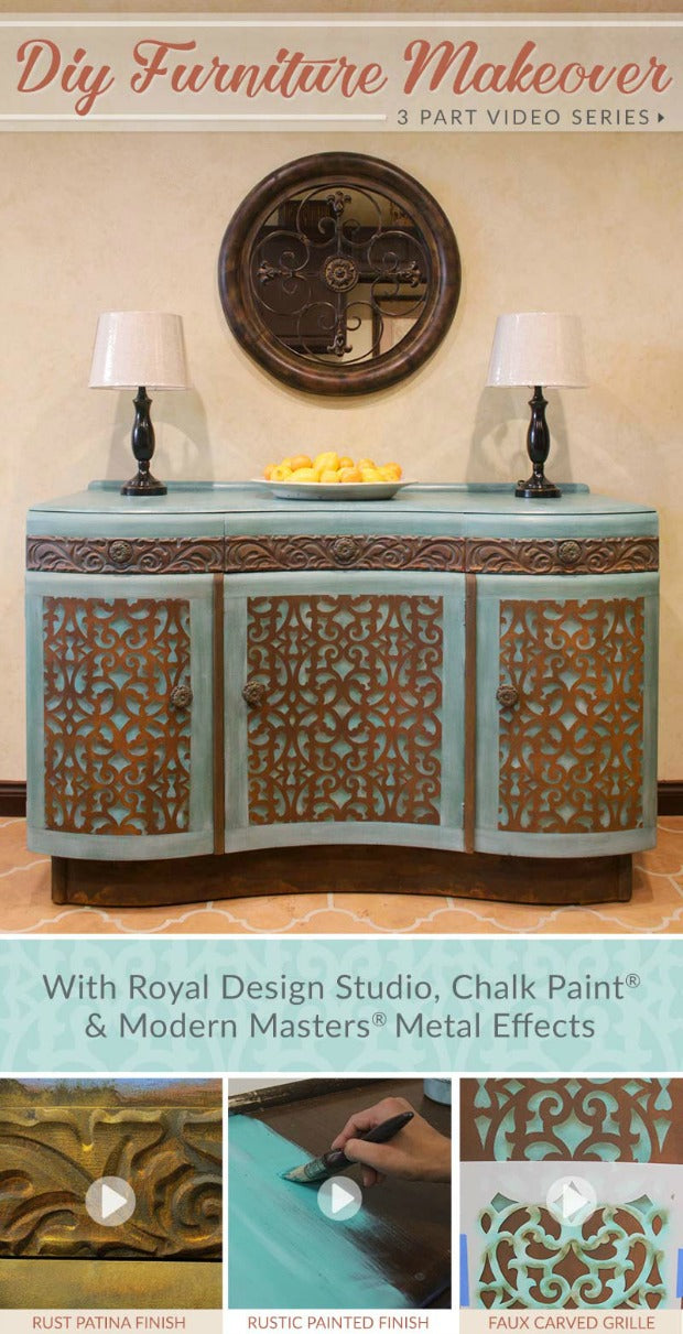 Diy Furniture Makeover Tutorial Distressed Stencils