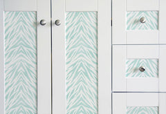 how to stenciling furniture on cabinetry